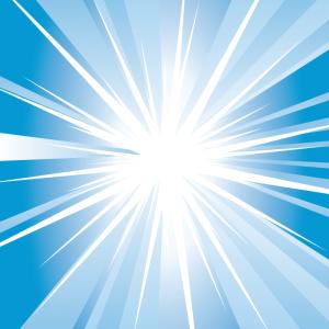 A White-Light-in-Blue-Design