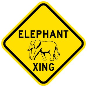 Aelephant-crossing