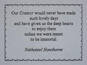 AOurCreator,NathanielHawthorneQuotation