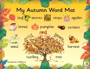 Autumn word mat 1