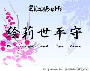Elizabeth_11720101553_Kanji_Name