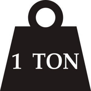 One-ton_weight.svg