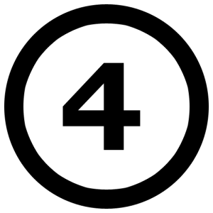 A4NumberFourInCircle