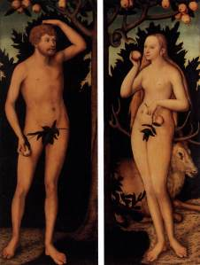 Adam-and-Eve-Temptation-by-Lucas-Cranach-the-Younger-1537