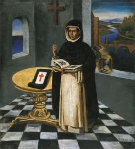 Antonio-Berni-Toledo-y-el-Religioso-o-El-Fraile