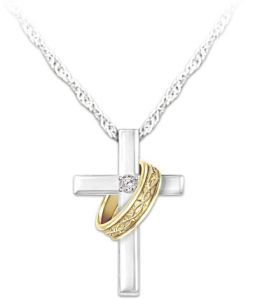 Cross-And-Crown-Of-Thorns-Ring-Diamond-Pendant-Necklace