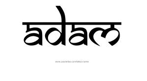 tattoo-design-male-name-adam (20)