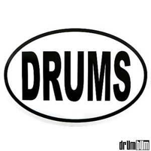drums-oval-sticker