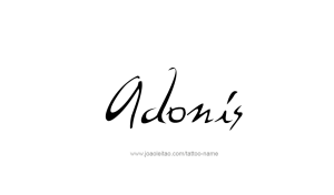 tattoo-design-name-adonis-01