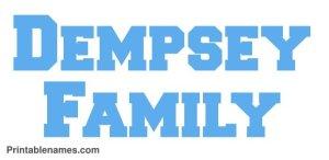 adempsey-family-name