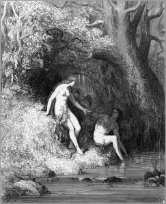 AGustave Dore Paradise Lost Eve talks to Adam