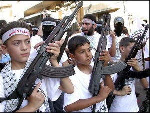 apal children w AK46 rifles