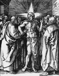 Duerer, Unglaeub.Thomas / Kl.Passion - Doubting Thomas / Duerer / c.1510 -