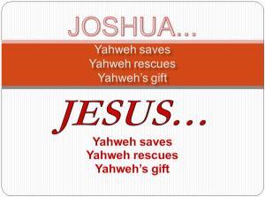 Joshua & Jesus name meanings