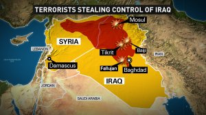 This map shows the growth of The Islamic State in Iraq and Syria (ISIS) throughout northern Iraq and western Syria. This map is current as of 6/12/2014.