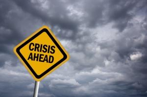 Crisis ahead warning sign