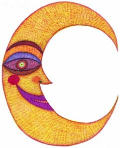 The letter C resembling a crescent moon --- Image by © ImageZoo/Corbis