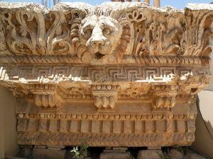 RBekaa Valley 20 Baalbek Temple Of Jupiter Lion Head Carving Frieze