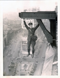 A man hanging around in what appears to be a NYPD Aerial Police uniform c 1930s