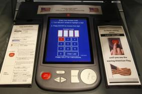 afd50801-an-electronic-voting-booth-is-seen-in-a-polling-station-in-a
