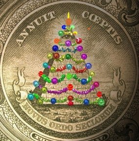 All Seeing Eye Pyramid Christmas Tree