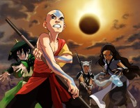 """Nickelodeon's hit series Avatar: The Last Airbender invades television screens with a new one-hour TV movie """"Day of Black Sun"""" on Friday, Nov. 30 from 8 to 9 p.m. (ET/PT). The epic third season of the series from creators Mike DiMartino and Bryan Konietzko continues as Aang and his rag-tag crew launch their massive attack on the Fire Nation during the solar eclipse. This special television event features the guest voices of Avatar fan and tennis pro Serena Williams as Ming (Uncle Iroh's guard) and WWE wrestler Mick Foley as The Boulder. (PRNewsFoto/Nickelodeon) (Newscom TagID: prnphotos066953) [Photo via Newscom]"""