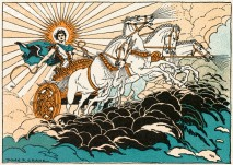 Greek God Helios Riding in Chariot --- Image by © Corbis