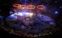Artists perform during the Opening Ceremony at the 2012 Summer Olympics, Friday, July 27, 2012, in London. (AP Photo/Morry Gash)