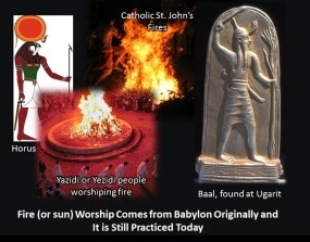 fire worship or sun worship is ancient