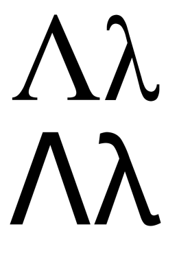 Greek_letter_lambda_serif+sans.svg