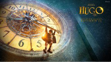 Hugo 2011 Movie Hanging On Clock
