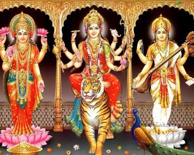 lakshmi-duRga-saRaswati