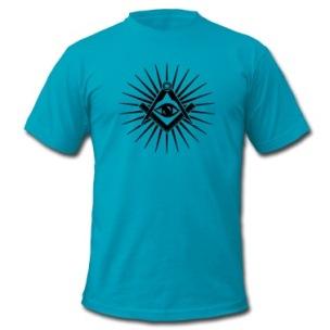 Masonic-symbol,-all-seeing-eye,-freemason-T-Shirts