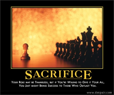 sacrifice- chess
