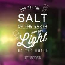 You are the SaLt + SaLvation SouL SoL Lamb Lamp SoLution
