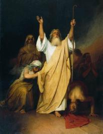 1861 PRayer of Mo ses afteR the Is Ra e l ites go thRough the Red Sea oiL on canvas 142.6 x 105.7 cm