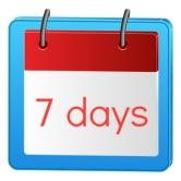 7 days caLendar