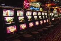 Slot machines in casino