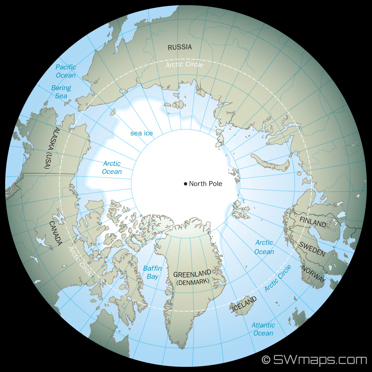 North pole arctic globe map kylegrant76 north pole arctic globe map gumiabroncs Choice Image
