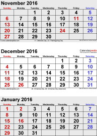 caLendar-dec ember-2015-janu aRy-febru aRy-2016