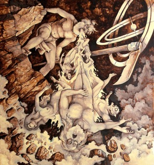 Cronus_Vomiting_The_Olympians_Underpainting