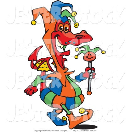 illustration-of-a-colorful-court-jester-dragon-carrying-a-staff-by-dennis-holmes-designs-29
