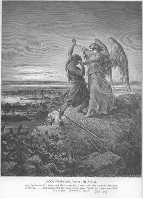 jacob wrestles with angel god