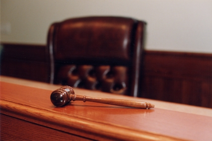 Judge's Bench and gavel