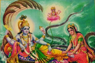 Lord Vishnu and his wife, goddess Lakshmi AniL VishaL PRinteRs