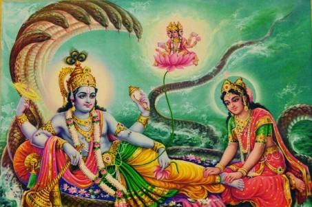 Lord Vishnu and his wife, goddess Lakshmi AniL VishaL PRinteRs