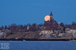 moon behind Abbot Hall