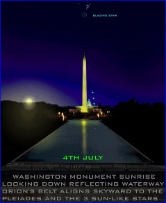 O2 Washington Monument sunrise 4th july