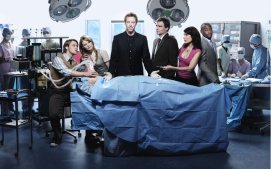 HOUSE -- Pictured: (l-r) Jesse Spencer as Dr. Robert Chase, Jennifer Morrison as Dr. Allison Cameron, Hugh Laurie as Dr. Gregory House, Robert Sean Leonard as Dr. James Wilson, Lisa Edelstein as Dr. Lisa Cuddy, Omar Epps as Dr. Eric Foreman -- NBC Photo: Art Streiber