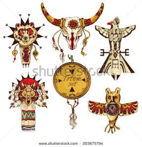 stock-photo-ethnic-american-tribes-animal-totems-colored-sketch-decorative-elements-set-isolated-illustration-203675794